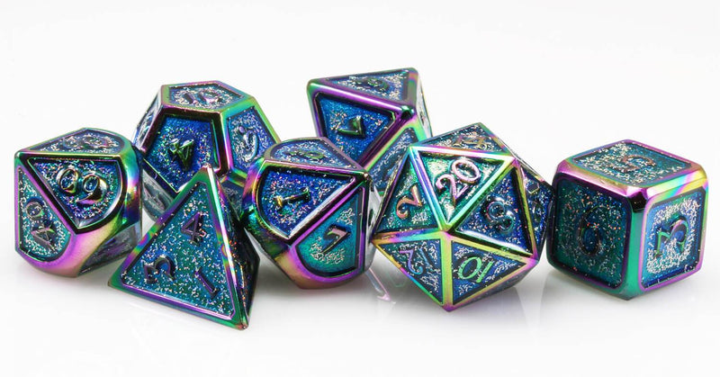 Rainbow dice Prismatic Teal