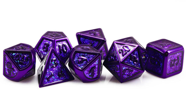 Prismatic Stealth D&D Dice