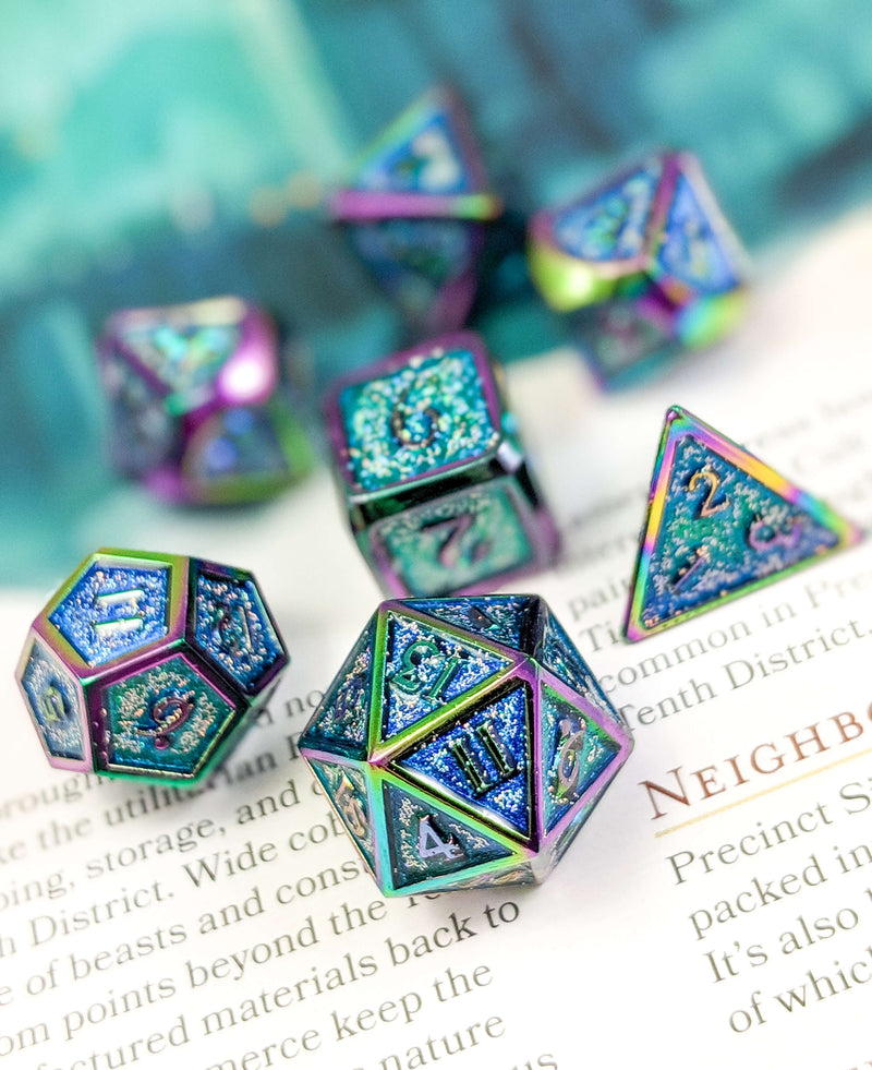 Prismatic Rainbow D&D Dice