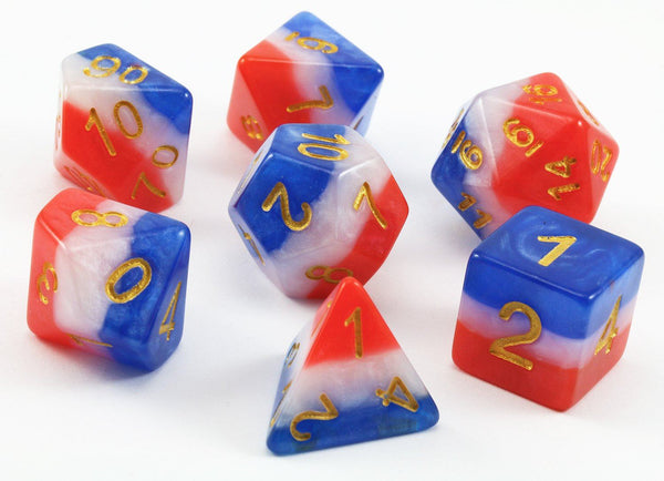 Red White Blue Flag Dice