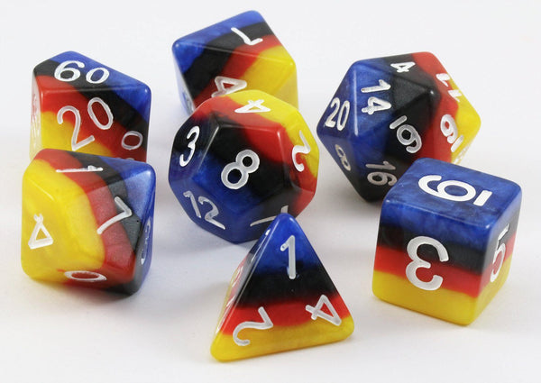 D&D Dice Rainbow Cloudburst