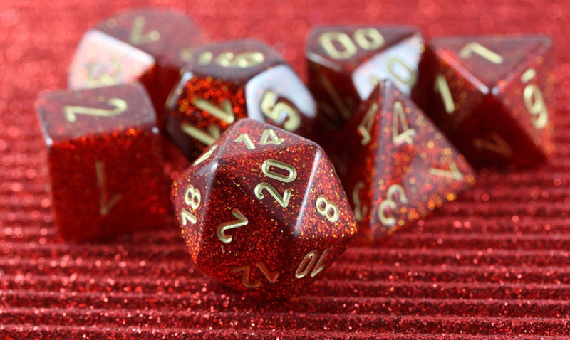RPG Dice Ruby Glitter
