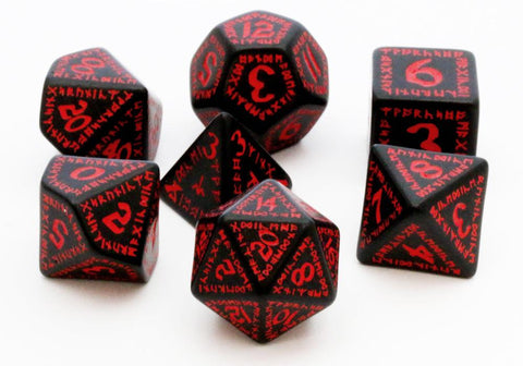 Runic Dice Black Red