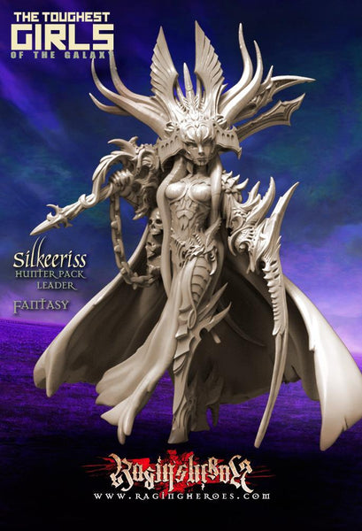 Raging Heroes Miniatures Silkeeriss, Hunter Pack Leader