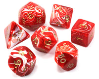 Silk Dice Red