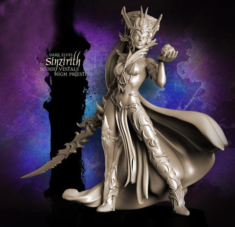 Raging Heroes Miniatures Sinzirith, Blood Vestal High Priestess