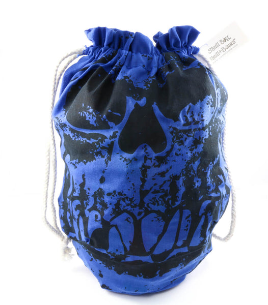 Orc Skull Dice Bag Blue