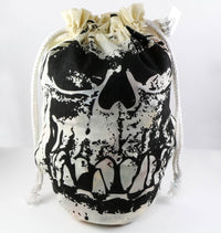 Orc Skull Dice Bag Ivory