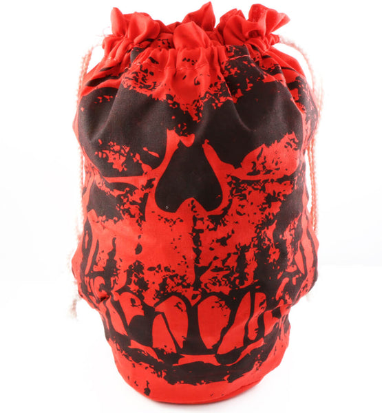 Orc Skull Dice Bag Red