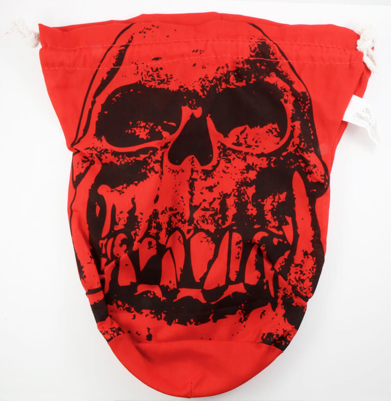 D&D Dice Bag Red Skull
