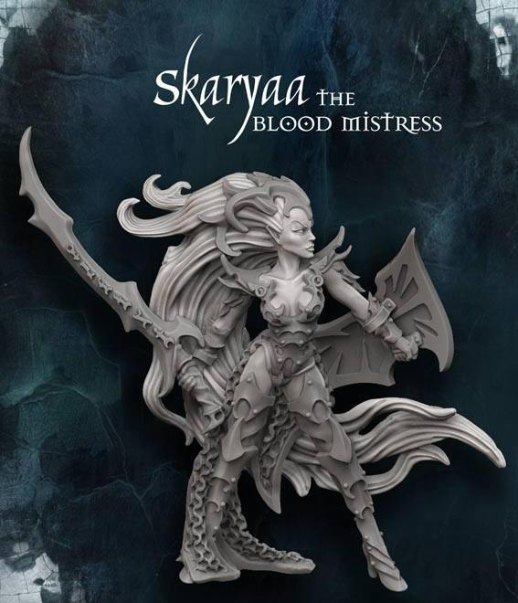 Raging Heroes Miniatures Skaryaa The Blood Mistress
