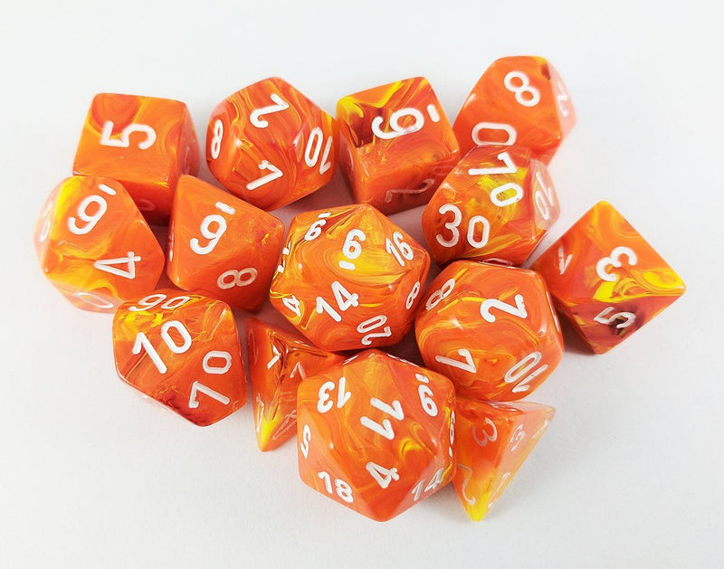 Orange D&D Dice