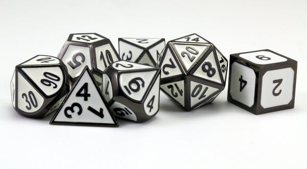 Enamel Dice (Space Trooper White) |  Metal RPG Role Playing Game Dice