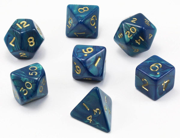 Special Mix D&D Dice Blue Teal