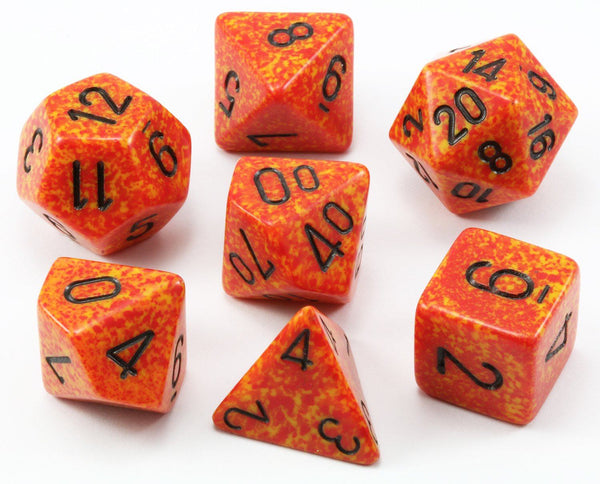 D&D Dice Speckled Fire