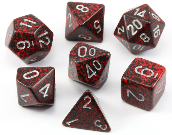 D&D Dice Speckled Silver Volcano