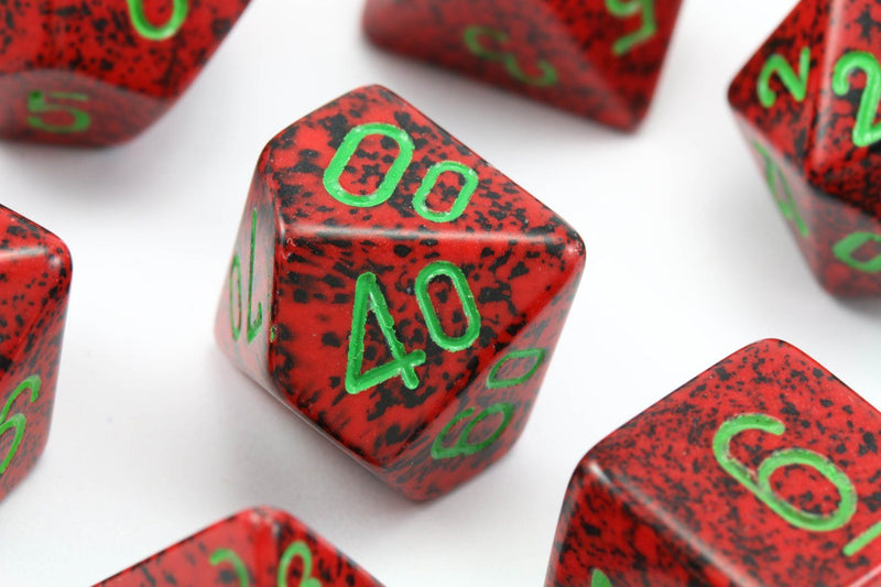 RPG Dice Speckled Strawberry