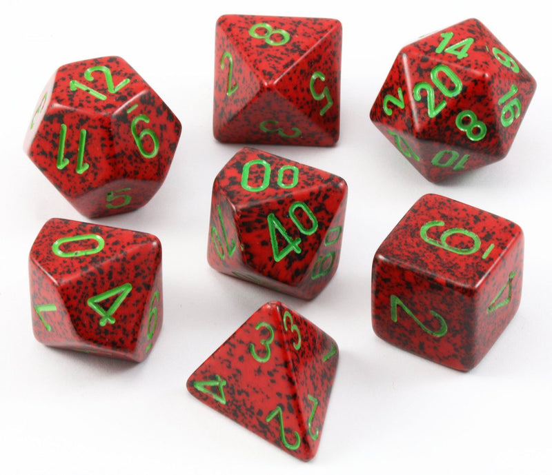 D&D Dice Speckled Strawberry