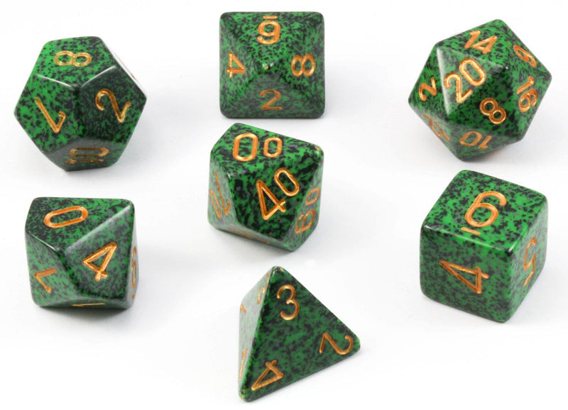D&D Dice Gold Recon Speckled