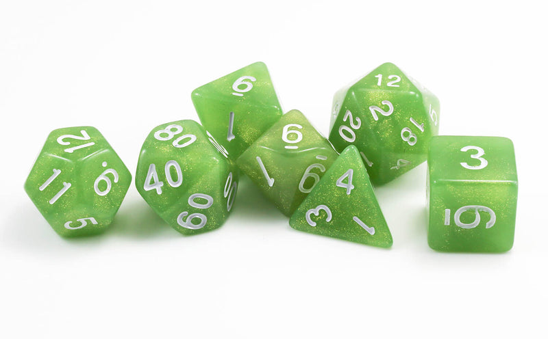 green spectral rpg dice