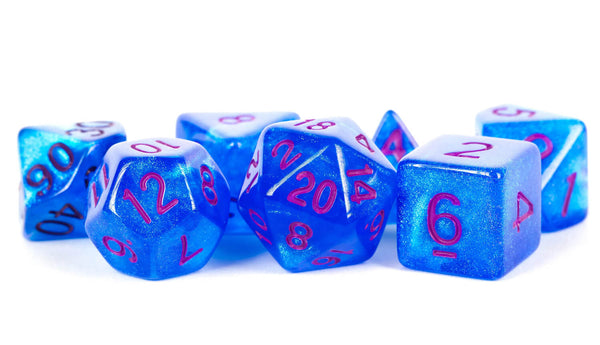 Stardust Dice (Blue With Purple Numbers)