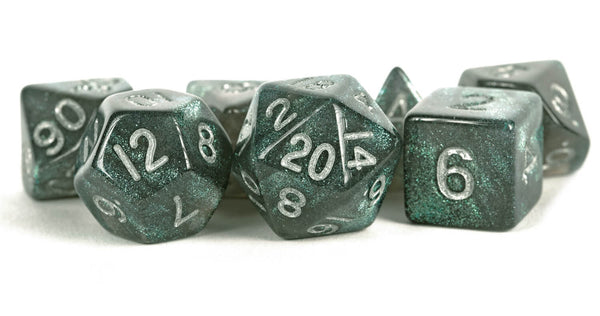Stardust Dice (Gray With Silver Numbers)