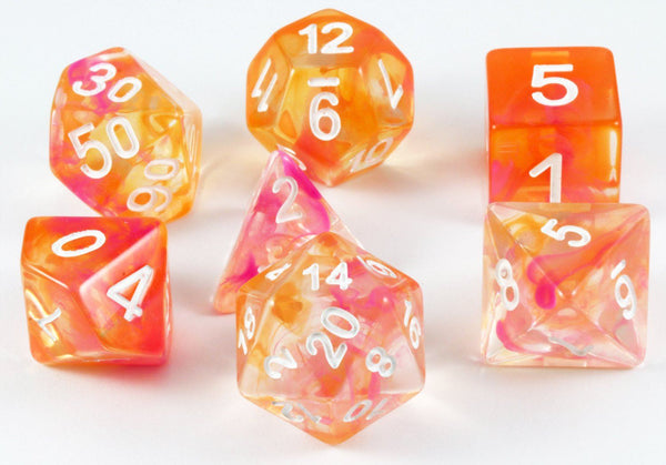 Sun Kissed Dice Rpg Role Playing Game Dice Set