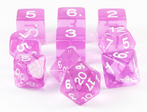 RPG Dice Orchid Translucent