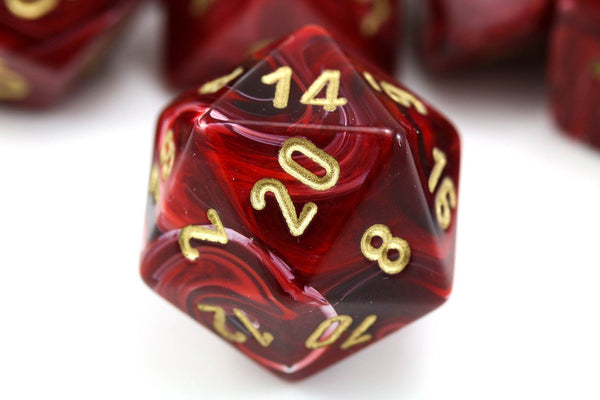 Vortex Dice Burgundy Rpg Role Playing Game Dice Dark