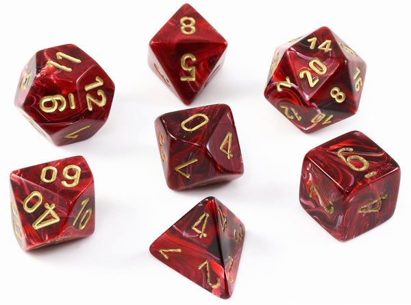 D&D dice burgundy