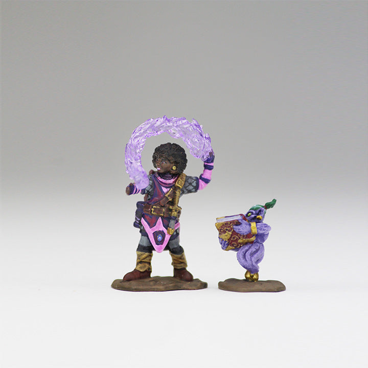 Wardlings Miniatures Girl Wizard and Genie 1
