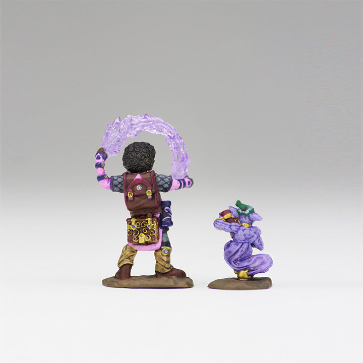 Wardlings Miniatures Girl Wizard and Genie 2