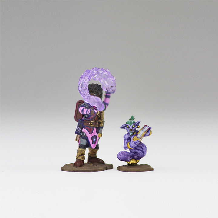 Wardlings Miniatures Girl Wizard and Genie 3