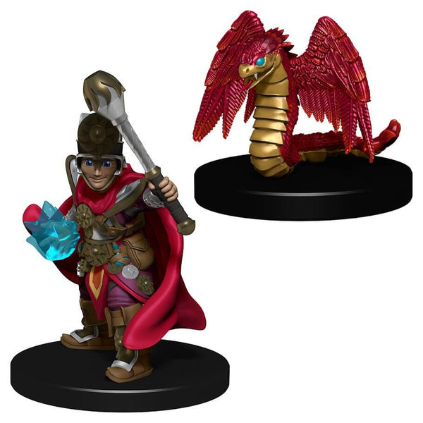 Wardlings Boy Cleric And Winged Snake Miniatures