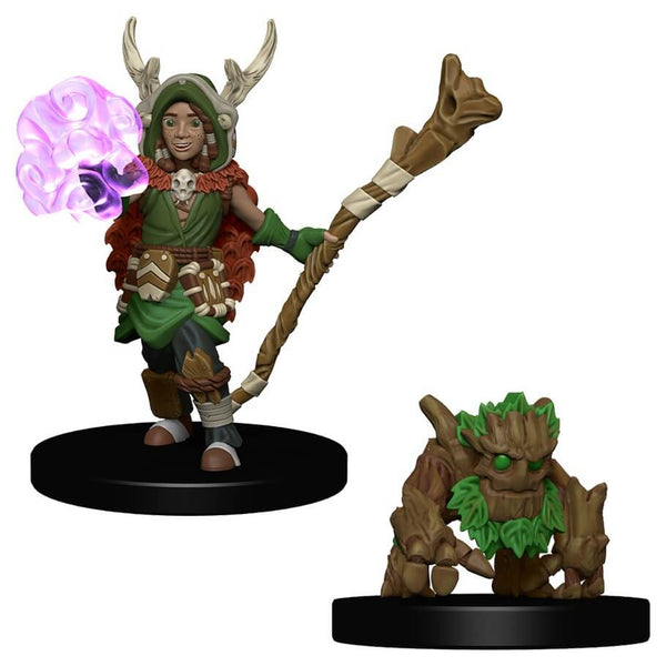 Wardlings Miniatures Boy Druid and Tree Companion