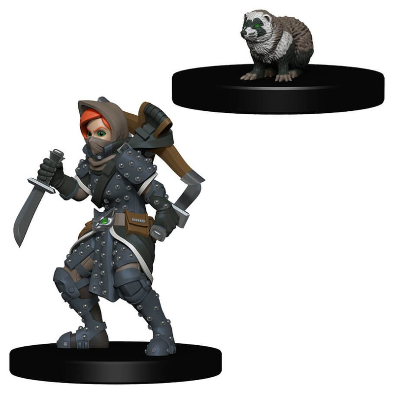 Wardlings Miniatures Girl Rogue and Badger