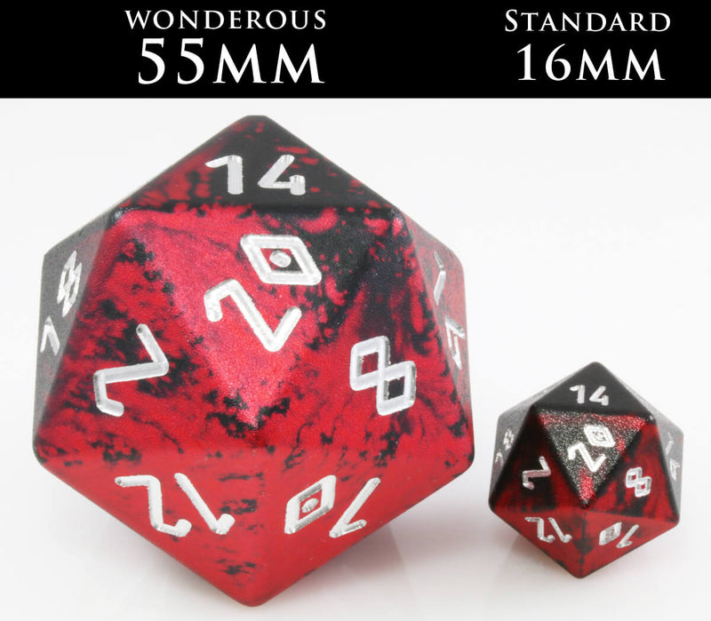 Giant aluminum d20 55mm