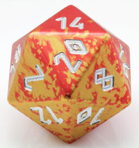 Giant d20 aluminum red gold