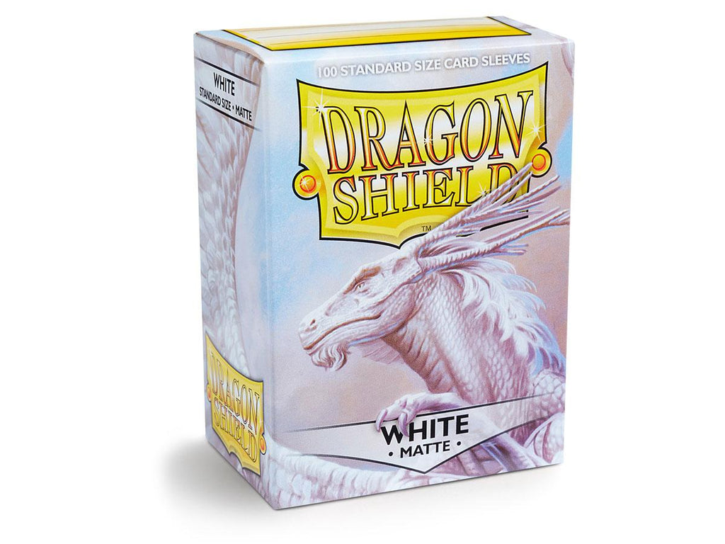 100 Dragon Shield Standard Size Card Sleeves Matte White