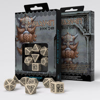 Q-Workshop dwarven dice beige