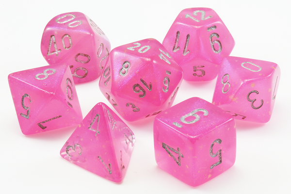 Borealis Luminary Dice (Pink) RPG Role Playing Game Dice Set