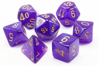 Borealis Luminary Dice (Royal Purple) RPG Role Playing Game Dice Set