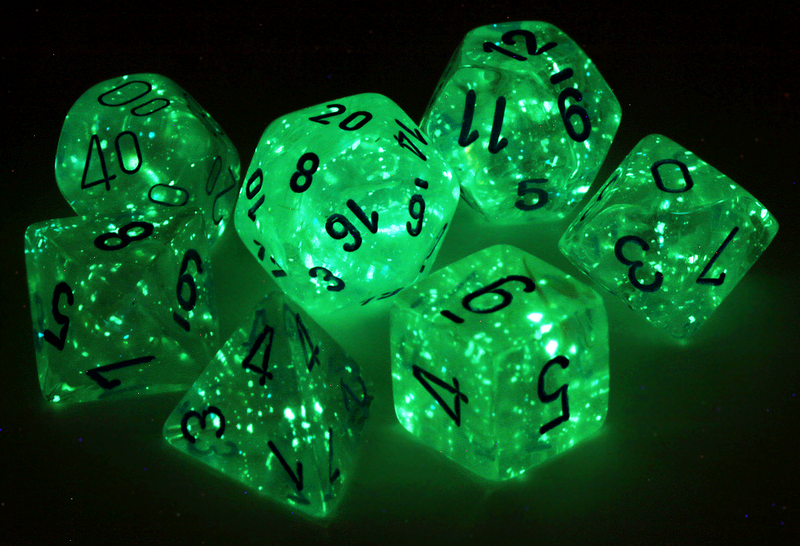 Borealis Luminary Dice (Icicle) RPG Role Playing Game Dice Set