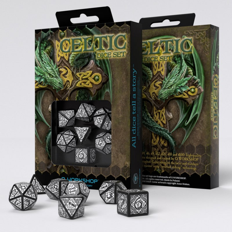 Celtic Dice Black And White 2