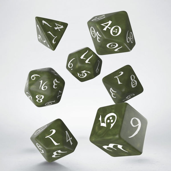Q Workshop Classic Olive dice