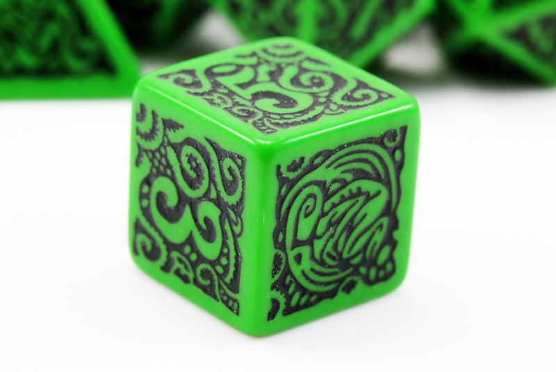 Cthulhu Dice d6 green