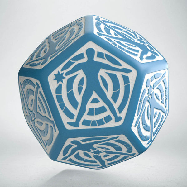 D12 Hit Location Die (Blue And White)
