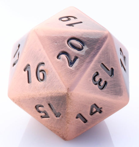 Giant Metal d20 Antique Copper