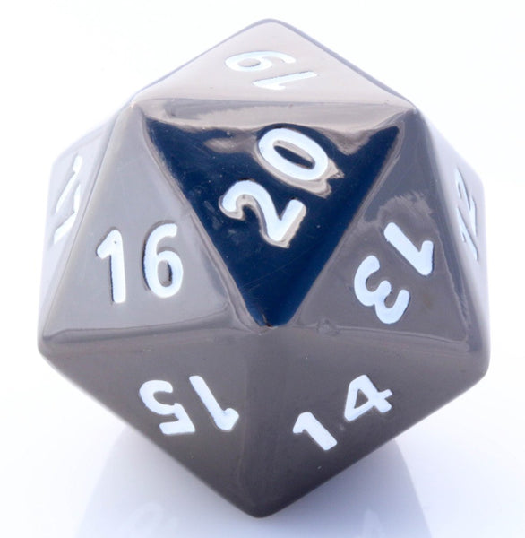 giant metal d20 black nickel
