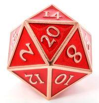 Giant d20 Enamel Red and Copper